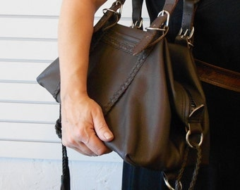 Solid Brown Leather bag