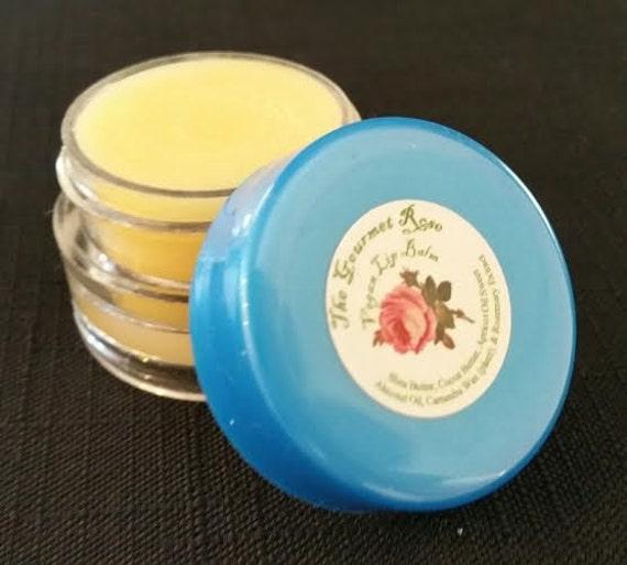 ORGANIC LIP BALM 100% All Natural Vegan Orange Peppermint Stevia Flavored Pure Cocoa Shea Butter Gloss Therapy Jar Pot