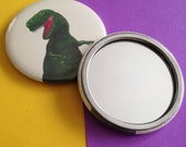 T Rex, Illustrated Pocket Mirror of the King of the Dinosaurs