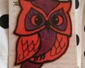 NOS Vintage 1971 Owl Sew-on Badge / Patch