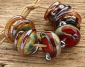 IZA - Handmade Lampwork Beads - Earring Pairs - 6 Beads
