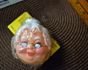 Vintage Doll Face Granny with EyeGlasses 3 inches