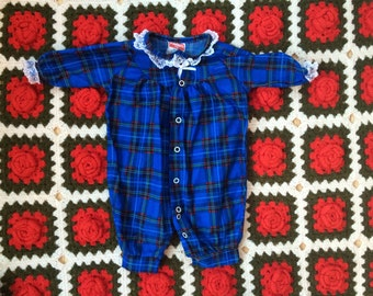 Plaid Sleeper 0/3 Months