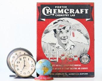 Vintage Chemcraft Box, Children's Science Kit Box