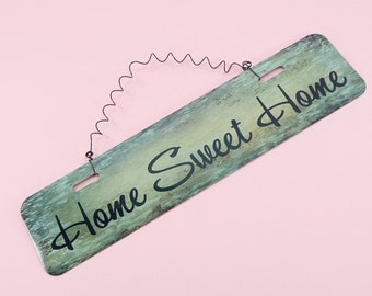 Lovely HOME SWEET HOME Metal Sign   Wire Cute Home Decor Entryway Kitchen Front Door Breezeway Mantle Fireplace Wreath Decoration 12in x 3in