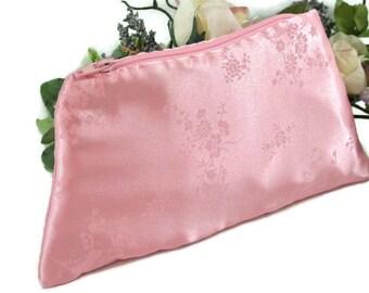 Pink Evening Clutch , Evening Bag , Small Clutch Purse , Formal Handbag, Wedding Purse , Bridal Bag , Pink on Pink Floral Print , For Her
