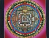 Original Hand-Painted Kalachakra Mandala Thangkas from Nepal.   Non Profit