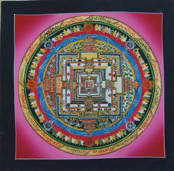 Mandala Homes Reviews >> Original Hand-Painted Kalachakra Mandala Thangkas from Nepal.