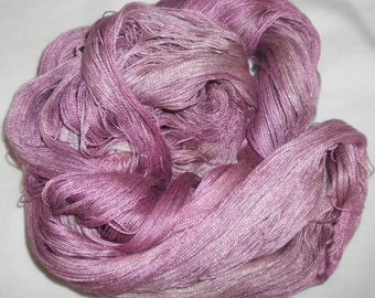 Hand dyed Tencel Yarn - 6/2 Tencel Lace Wt. Yarn   DUSTY ROSE - 630 yards