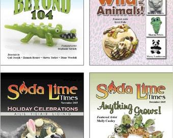 Bundle of Soda Lime Times Lampworking Magazines - Sept 2015 - Dec 2015