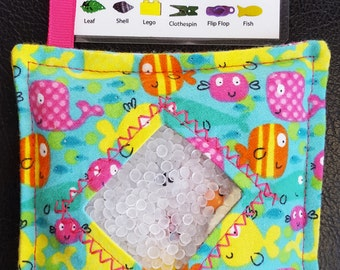 I Spy Bag - Mini with SEWN Word List and Detachable PICTURE LIST- Ocean Adventures