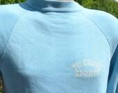 vintage 80s sweatshirt VII CORPS sports military crew neck raglan us army Small Medium soft