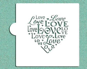 Love Saying Cookie and Craft Stencil - Designer Stencils (CM044)