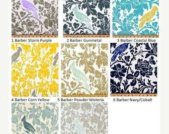 "ENDING SOON Designer Window Treatments-LINED-Valance-Curtain-Kitchen-Bedroom-Bathroom-Dining-Premier Prints Barber Bird-53"" x 16,18,20 Purpl"