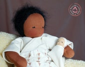 Second Installment reserved for byrdfreckles: Waldorf Doll - Waldorfdoll - Baby Doll - 30 cm - Handmade - Artist made - Fabric Doll  Baby