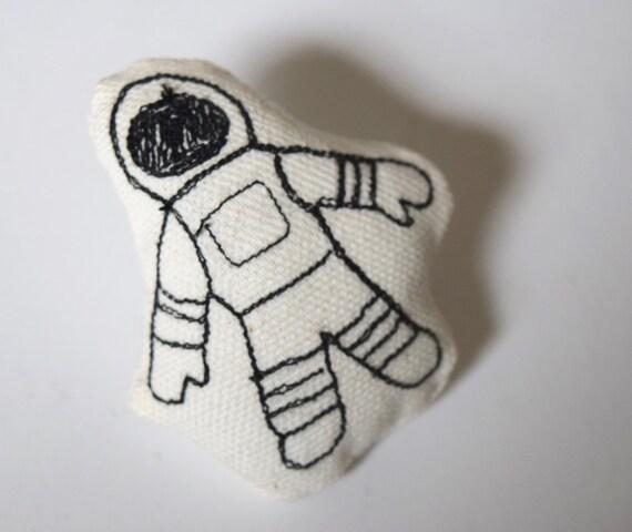 Moon Man – Original Stitch Art Pin