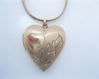 Vintage gold fill heart locket