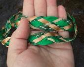 Wedding Handfasting Cord - Celtic Irish Gold Green SIMPLE NO beaded ends