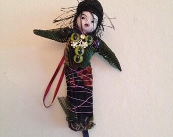 Art Doll Little Gumbo YaYa wall art ornament