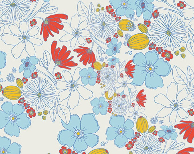 Meadow fabric, Art Gallery fabrics, Lea's Bloom Clearwater, Inspired by Vintage Linens, Floral- Choose your cut, Free Shipping Available