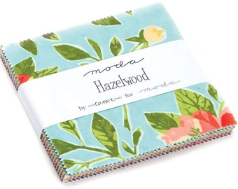 """Hazelwood Moda Charm Pack 42 - 5"""" precut fabric quilt squares by One Canoe Two"""