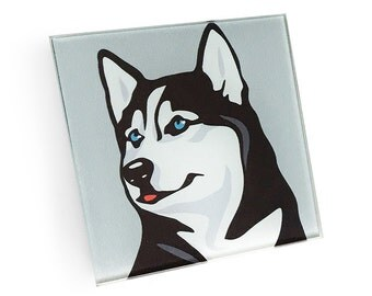 Set of 4 Husky Coasters