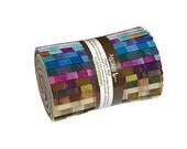 "Robert Kaufman ELEMENTALS BATIKS Charm Roll 5"" Precut Fabric Quilting Cotton Strips Lunn Studios CR-127-22"