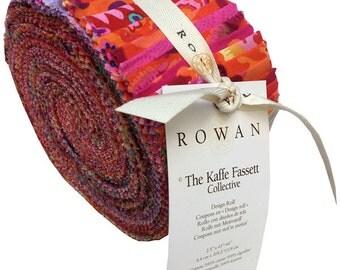 "Kaffe Fassett SPRING 2016 WARM Design Roll 2.5"" Precut Fabric Quilting Cotton Strips Rowan Westminster FB3DRGP.1WARM"