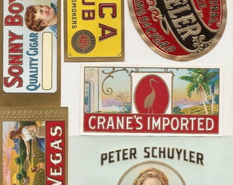 23 different 1930s plus TOBACCO and CIGAR LABELS