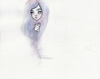 Ghostly II original watercolor painting
