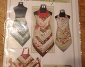 Delicious Four Corners Apron Sewing Pattern for Patchwork, Jelly Roll, or Quilting, Vanilla House Designs