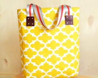 Yellow canvas tote | Etsy