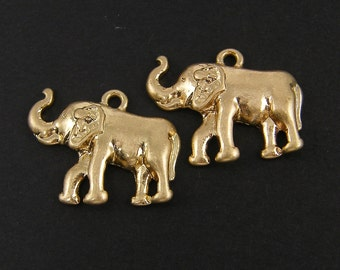 4 Pcs Gold Elephant Charms |G5-4|4
