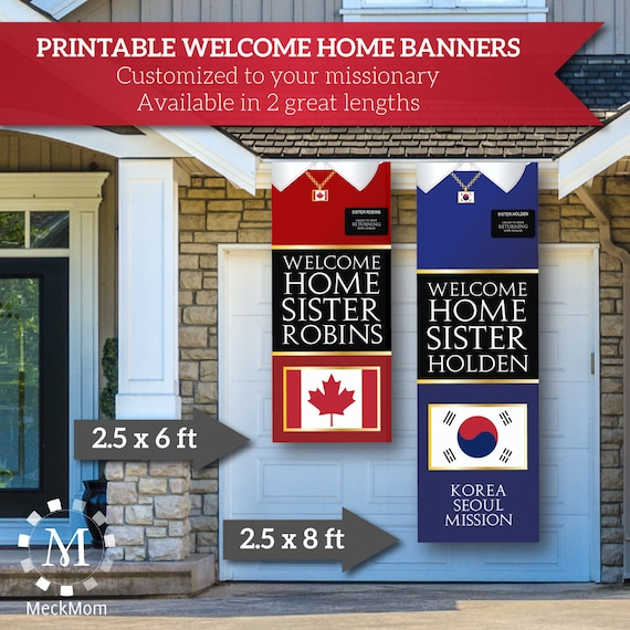 Printable Welcome Home Sign: DIGITAL FILE Giant LDS Missionary Welcome Home Banner
