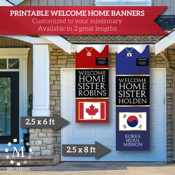 digital file giant lds missionary welcome home banner