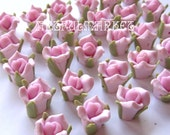Pink Porcelain Rose Beads, Ceramic Flower Beads, 8mm, Pink flowers,  Beading Supplies, Jewelry Findings, Bohemian Findings, 12-50pc.