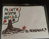 Paint with words to remember - handmade card - SALE