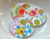 """Basic Grey Rainbow Garden 2"""" Die Cut Circles or Sticker Set"""