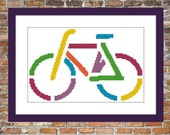 La Bicyclette - a Counted Cross Stitch Pattern