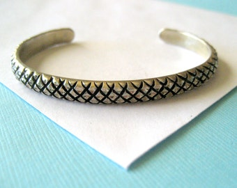 Diamond Cut Sterling Silver Cuff Bracelet