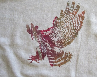 Handkerchief/Prayer Cloth - Hawk - Magenta, Gold and Turquoise