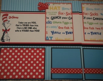 Dr. Seuss Today you are you, that is truer than true.   12x12 Scrapbook Pages for your FAMILY Girl or Boy Graduation