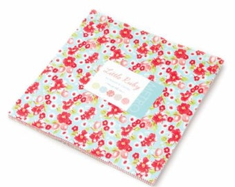 SALE 10 inch squares Layer Cake - LITTLE RUBY Moda Fabric by Bonnie & Camille