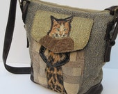 Leather and Fabric SHOULDER SATCHEL  Star Struck KITTY S Red Carpet Moment