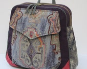 RESERVED FOR Suzanne Godwin  Fabric and Leather Backpack