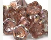 35% off Shop Closing Sale 25 Apollo Gold Czech Glass Bellflower Beads 8x6mm CZP063