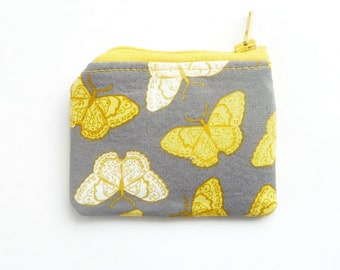 mini jewelry case travel. small butterfly zipper pouch. flash drive memory card case. lobster claw d ring key chain. hearing aid pill pouch