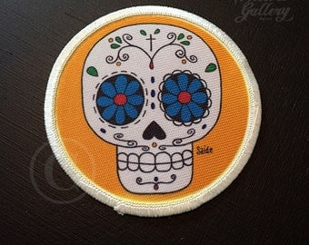 Sugar Skull Patch Yellow
