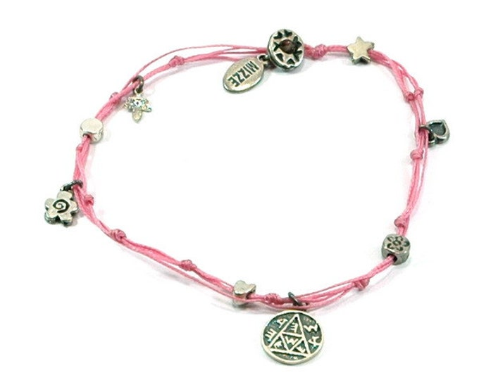 Healthy Pregnancy Solomon Seal and lucky Charms Anklet in Pink