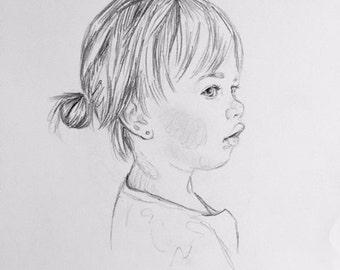 Custom Portrait - Pencil Drawing